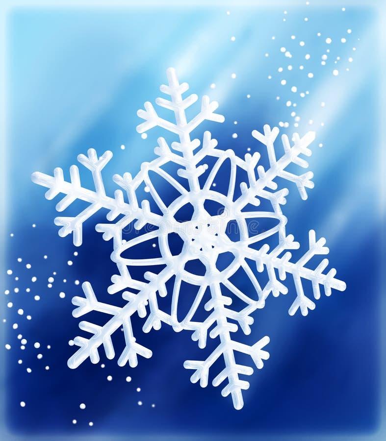 längs snowflaken vektor illustrationer