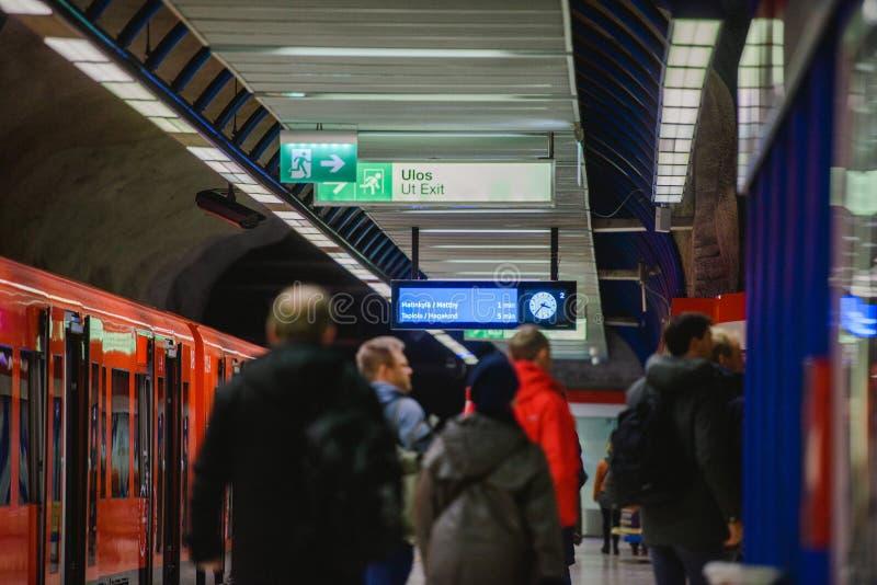 Länsimetro starts operating stock photography