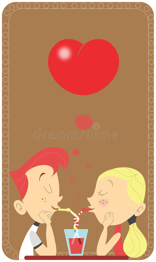 läppja för parförälskelserestaurang vektor illustrationer