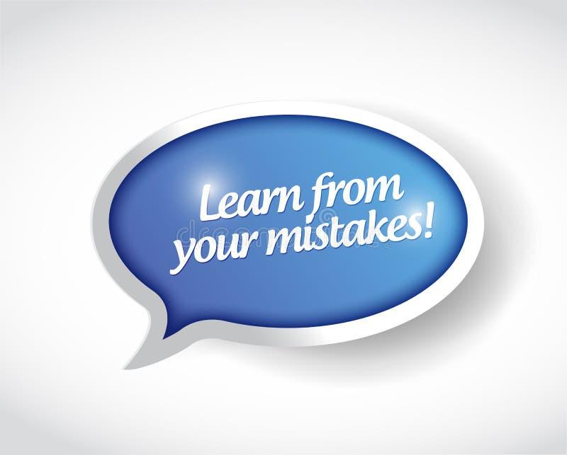 Lär från din felstolpebok stock illustrationer