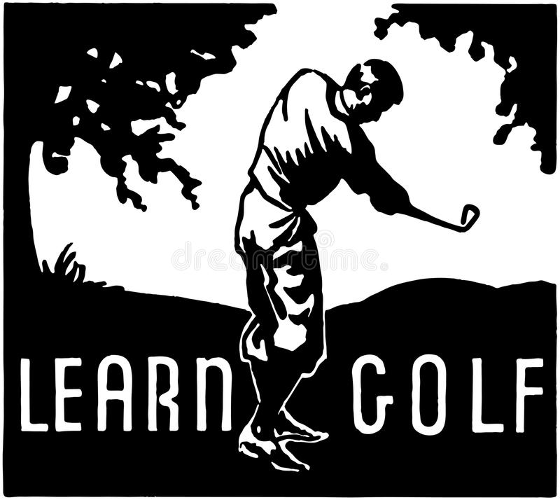 Lär golf royaltyfri illustrationer