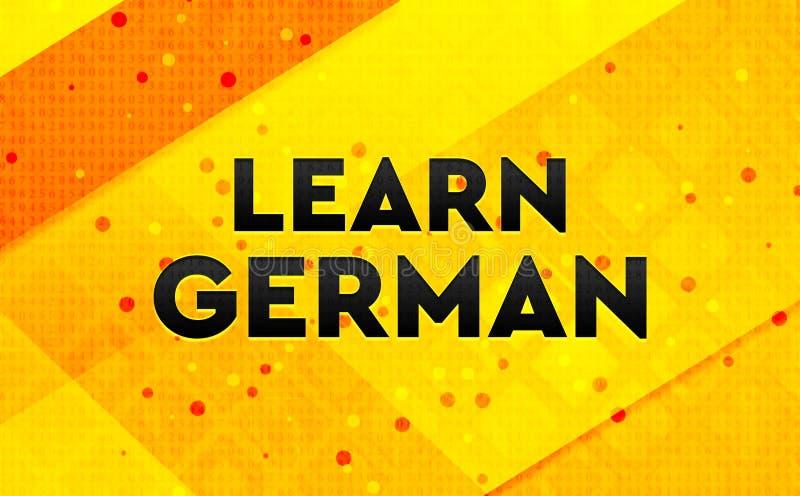 Lär gul bakgrund för det tyska abstrakta digitala banret stock illustrationer