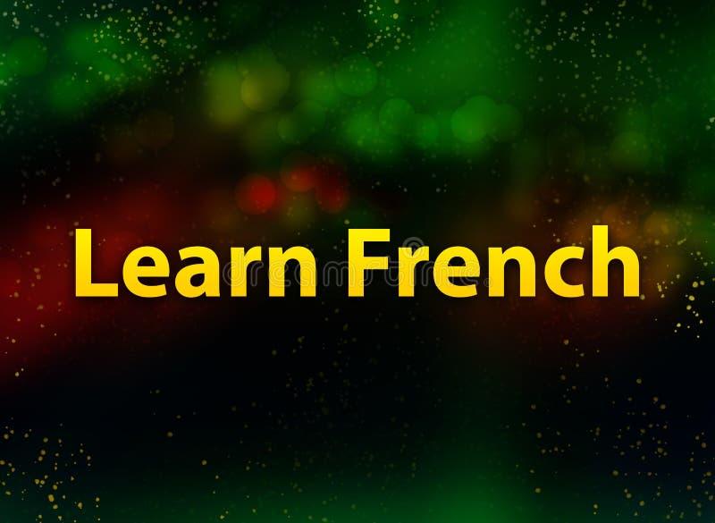 Lär mörk bakgrund för fransk abstrakt bokeh stock illustrationer