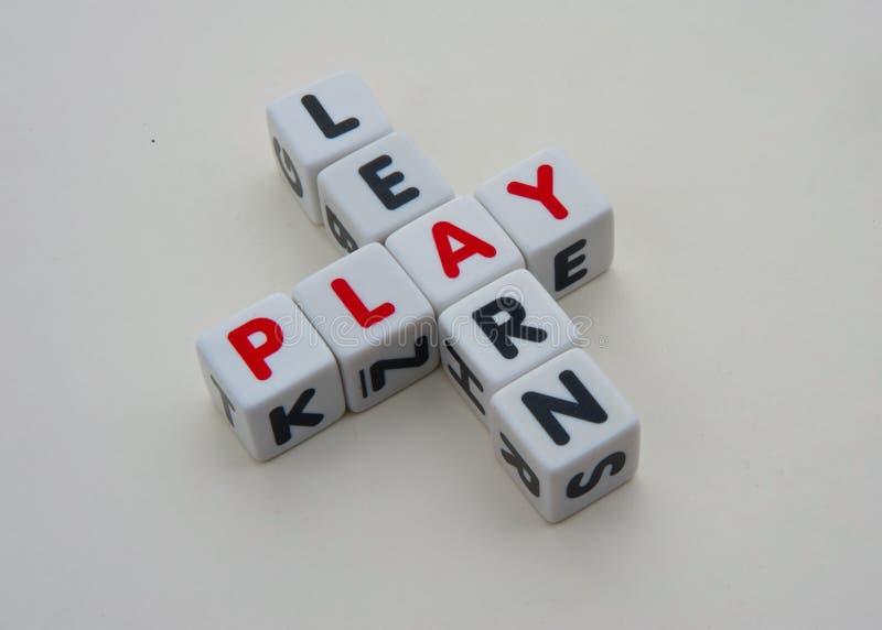 Lär och spela arkivbild