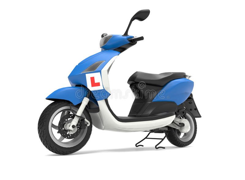 Lära att köra sparkcykelbegrepp royaltyfri illustrationer