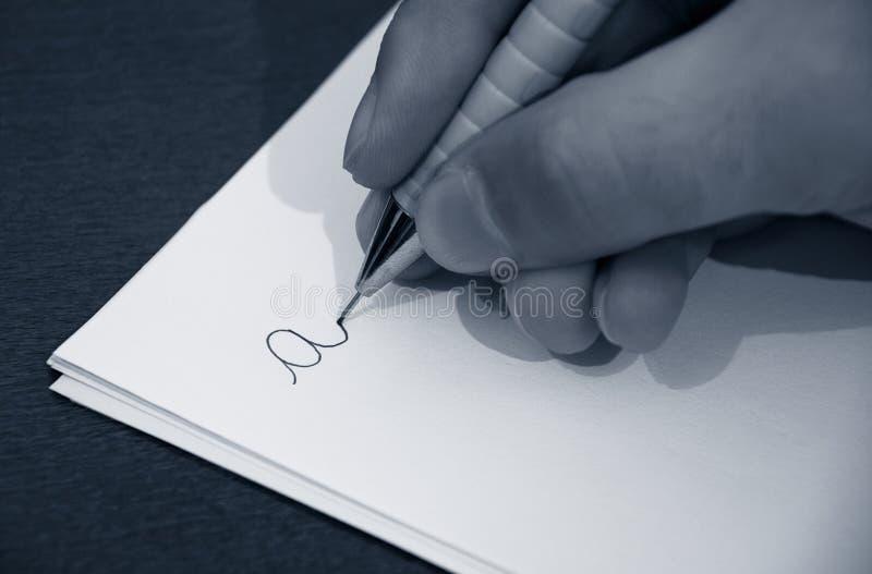 lära att skriva arkivfoto