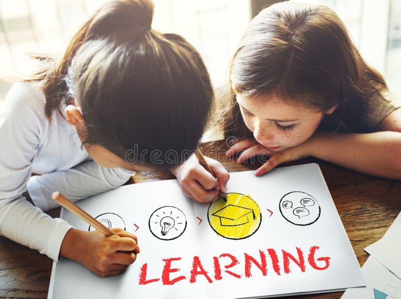 Lära begrepp för vishet för inblick för studieutbildningskunskap arkivbild