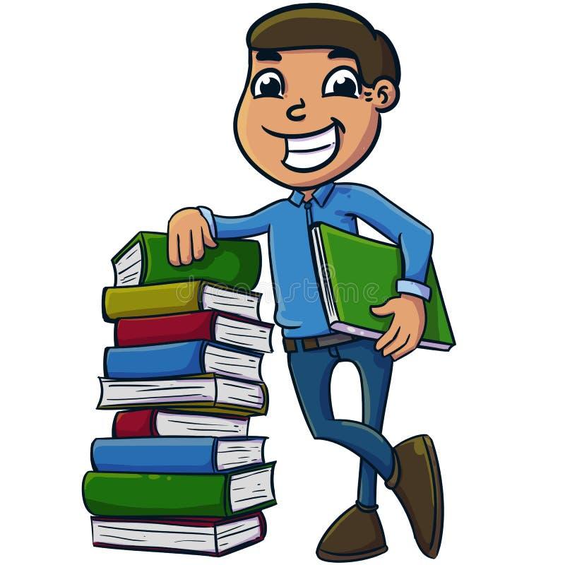 Lära för bok royaltyfri illustrationer