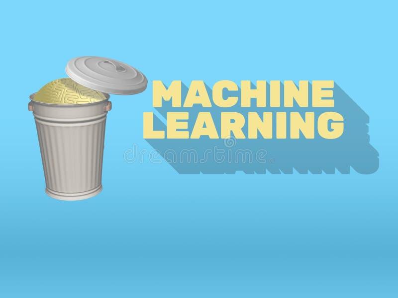Lära för maskin för konstgjord intelligens Vs mänsklig mening vektor illustrationer