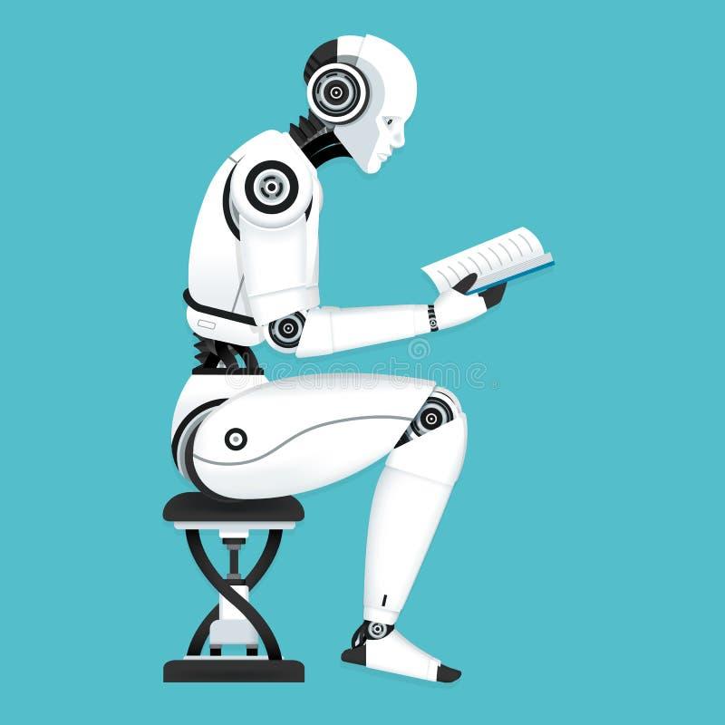 Lära för robotmaskin royaltyfri illustrationer