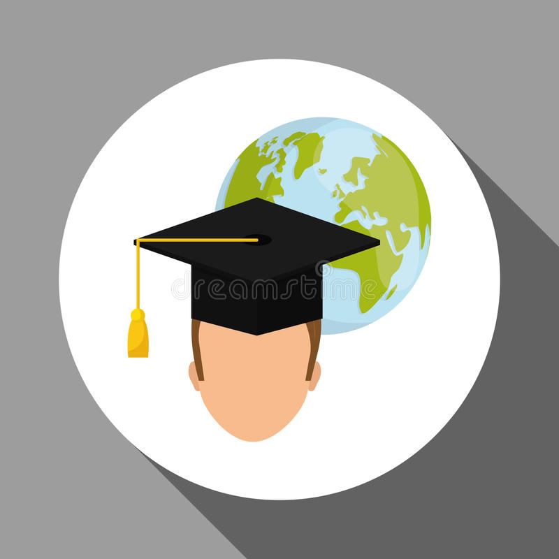 Lära grafisk design, vektorillustration royaltyfri illustrationer