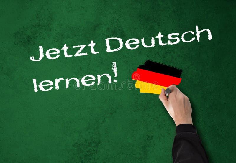 Lära tysk nu! arkivfoto