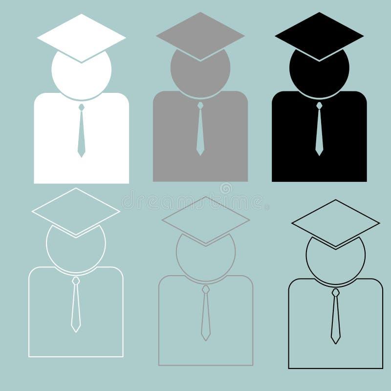 Lärare eller vetenskapligt med bandsymbolen royaltyfri illustrationer