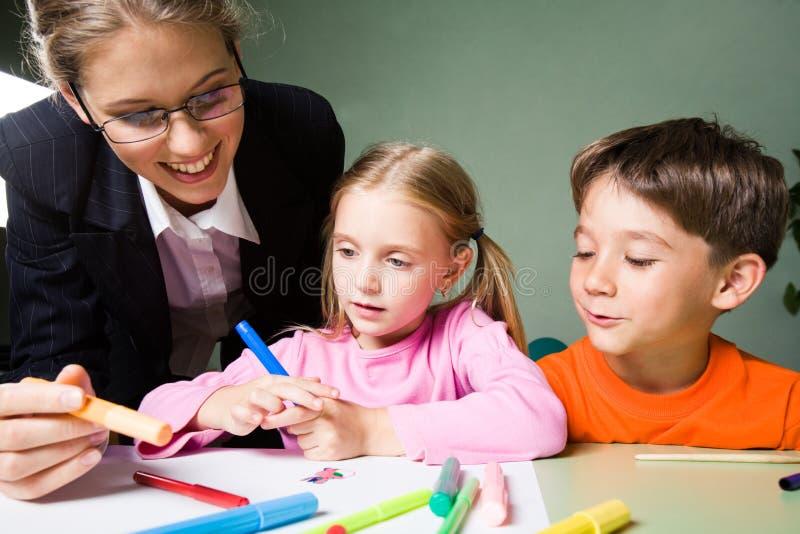 lärare för rådgivning s arkivbild