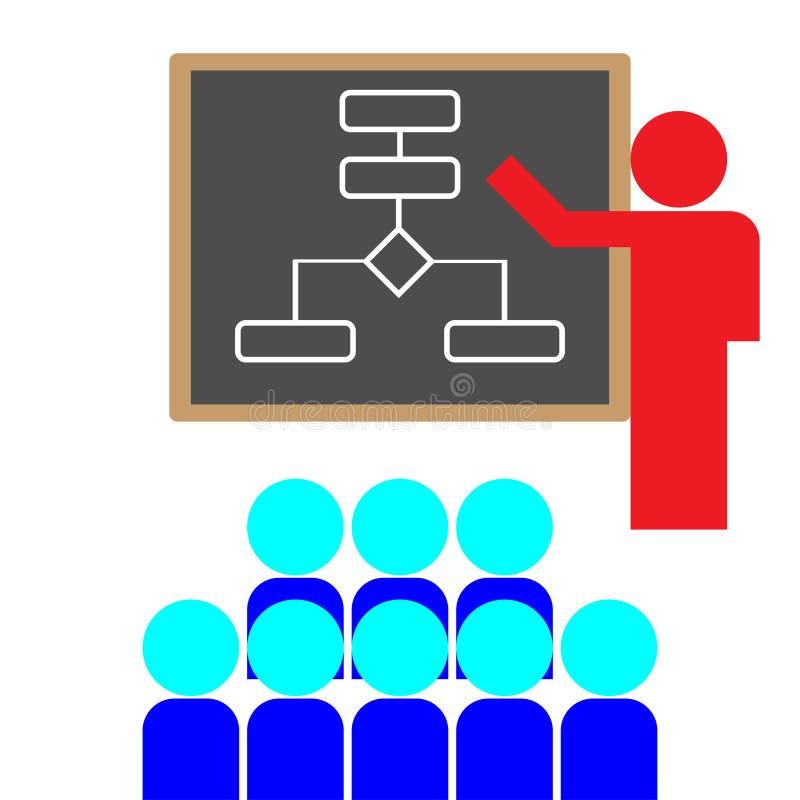 Lärare och elev vektor illustrationer
