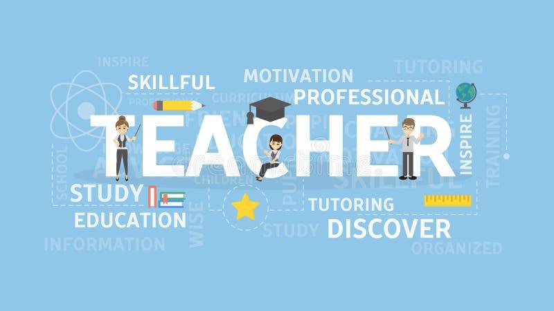 Lärarebegreppsillustration stock illustrationer