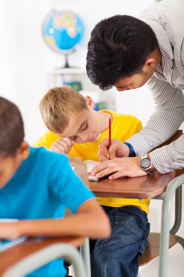 Lärareportionstudent arkivbilder