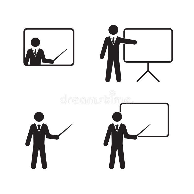Läraresymbolsuppsättning royaltyfri illustrationer