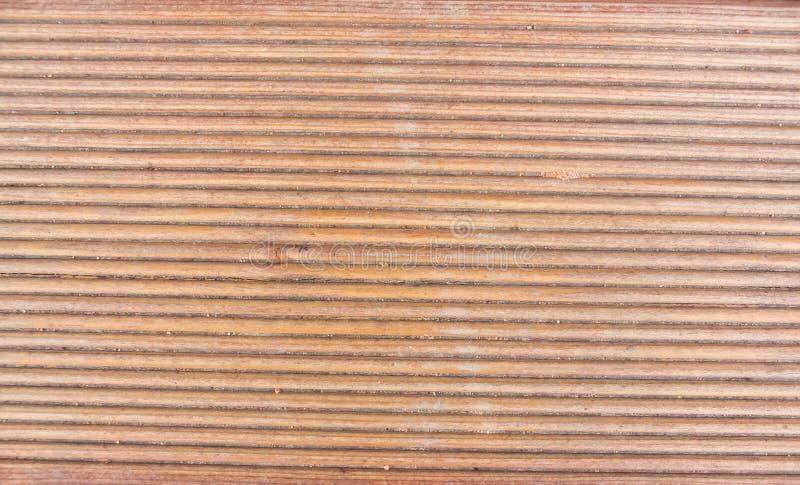 Lärche, Teil der strukturierten Ende vom Holz ein Brett von einer Lärche, ein Schrittabschluß oben lizenzfreie stockfotografie