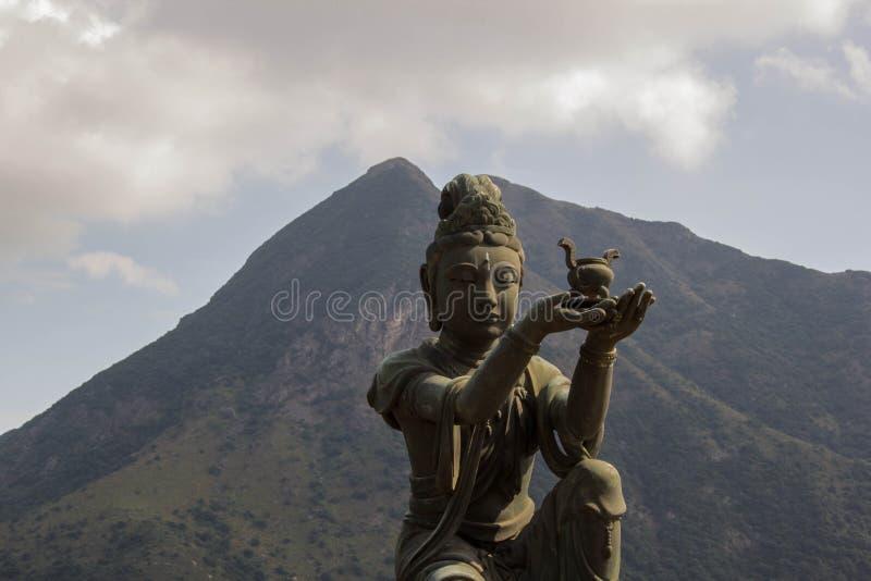 lärjunge av den stora Buddha arkivfoto