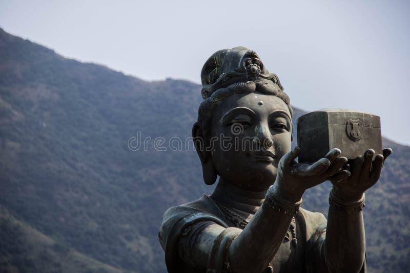 lärjunge av den stora Buddha arkivfoton