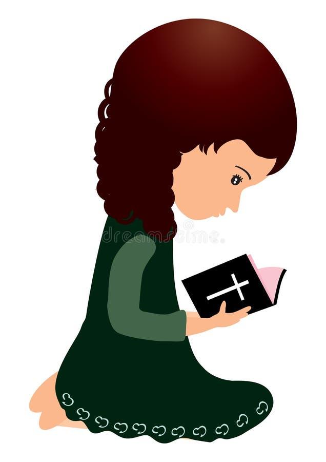 Läs- bibel royaltyfri illustrationer