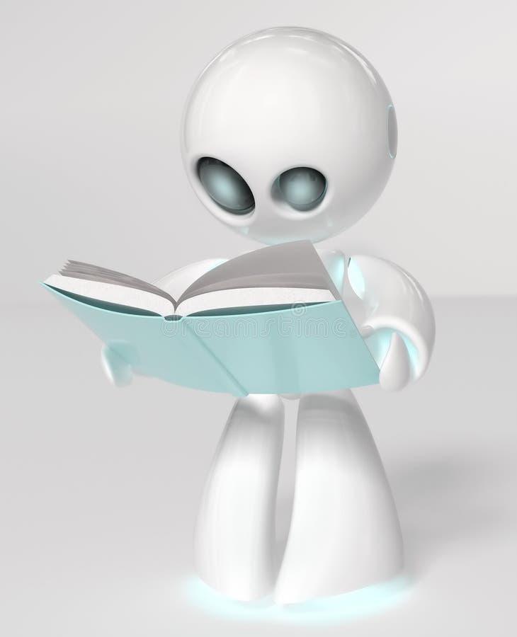 Läs- robot royaltyfri illustrationer