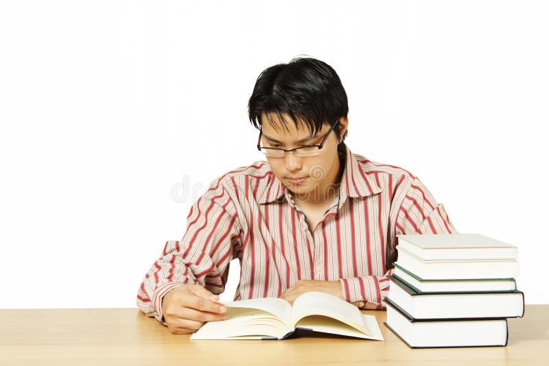 läsa för böcker royaltyfria foton
