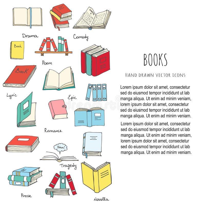 läsa för böcker royaltyfri illustrationer