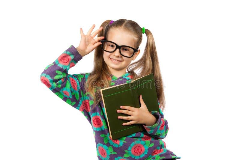 läsa för bokflickaexponeringsglas fotografering för bildbyråer