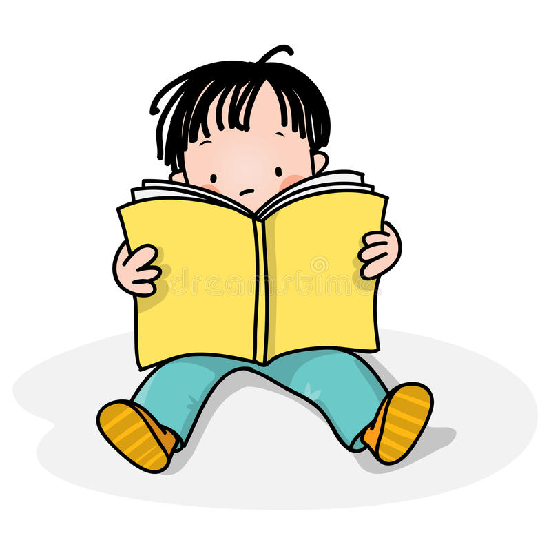 läsa för ungar stock illustrationer