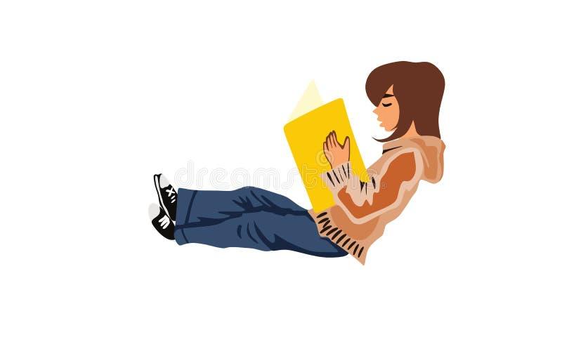 Läsebok för liten unge för illustration royaltyfria foton