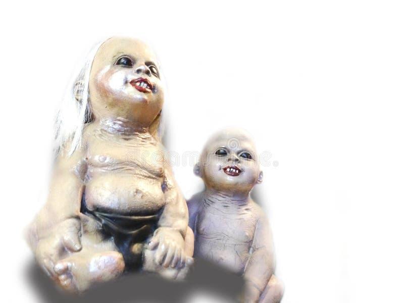Läskig barnspökedocka royaltyfria bilder