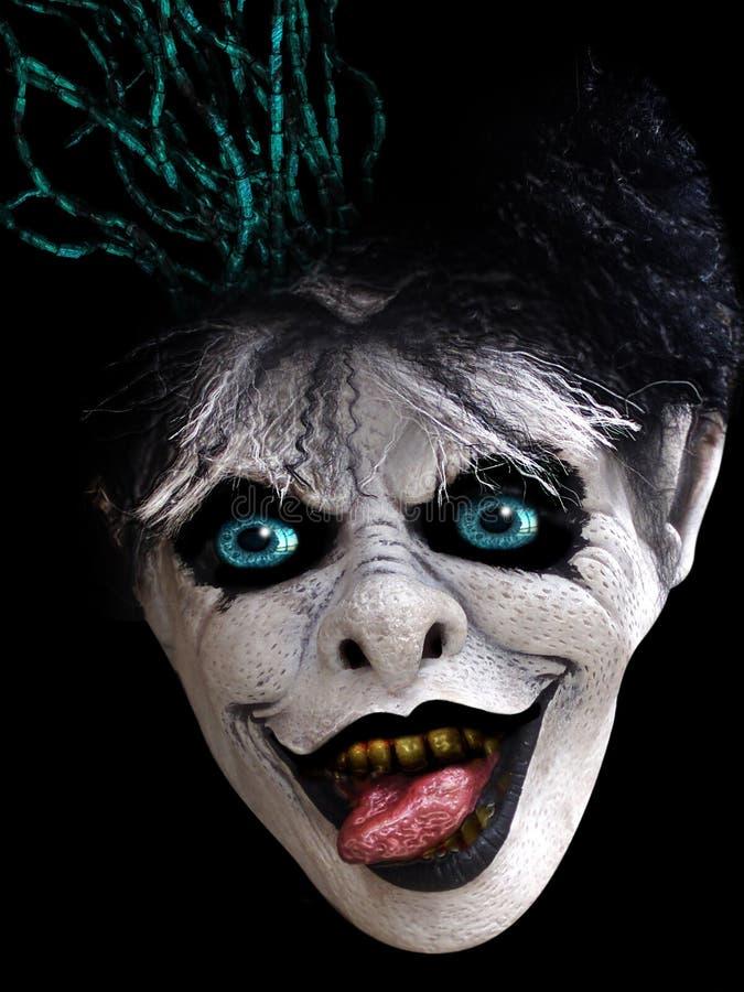 läskig halloween maskering royaltyfri bild