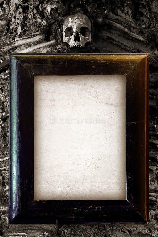 läskig ram royaltyfri bild