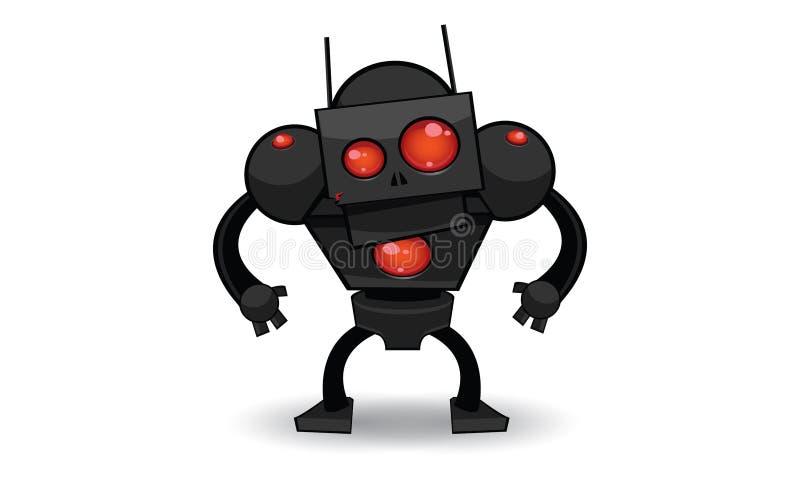 Läskig robot vektor illustrationer