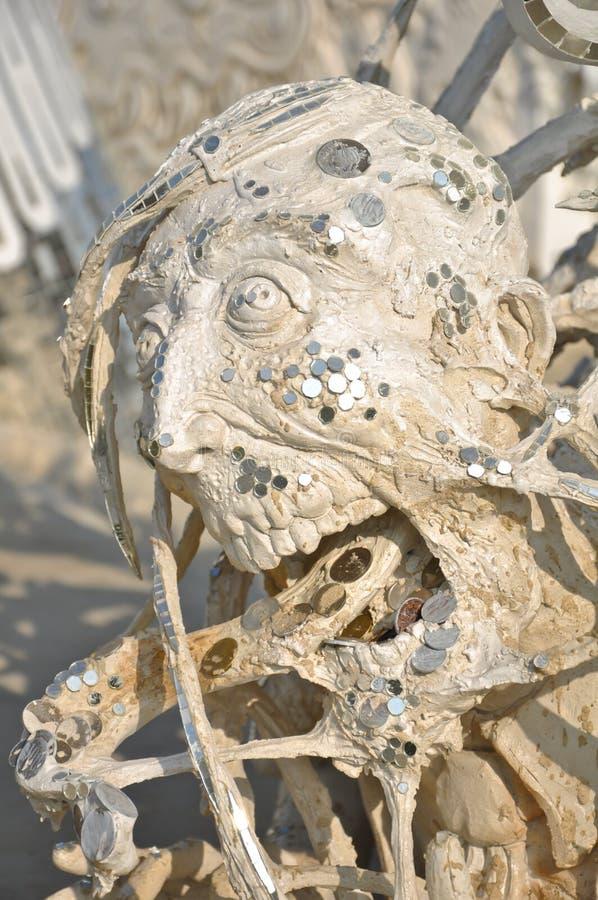 läskig skulptur royaltyfri foto