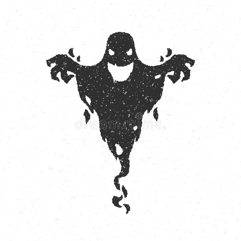 Läskig spöke för allhelgonaafton stock illustrationer