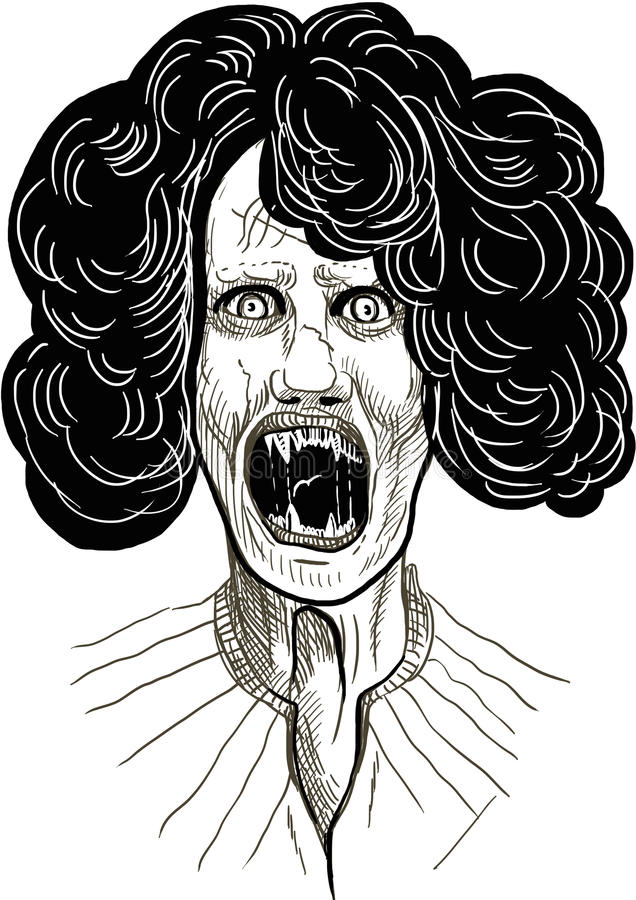 Läskig vampyr royaltyfri illustrationer