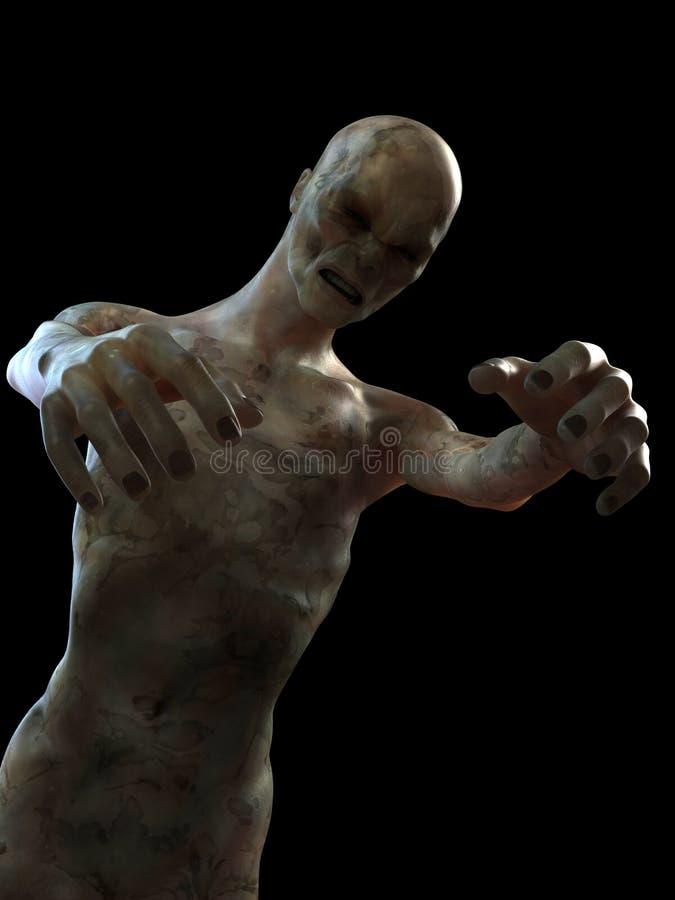 läskig zombie vektor illustrationer