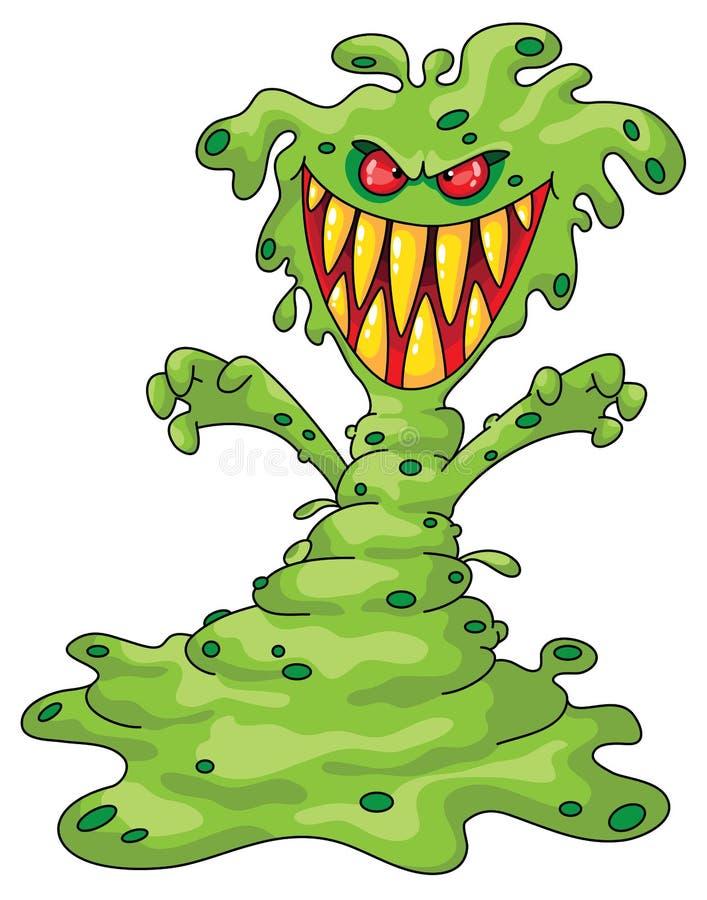 läskigt monster royaltyfri illustrationer