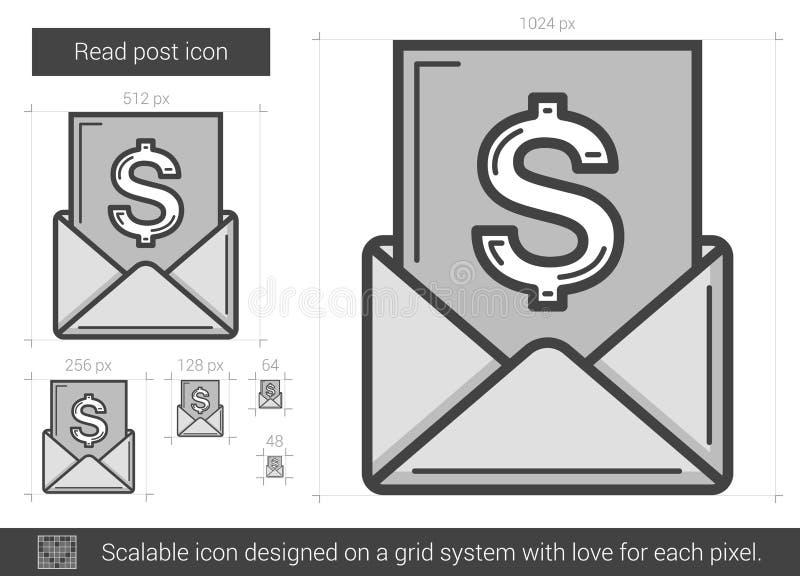 Läst stolpelinje symbol stock illustrationer