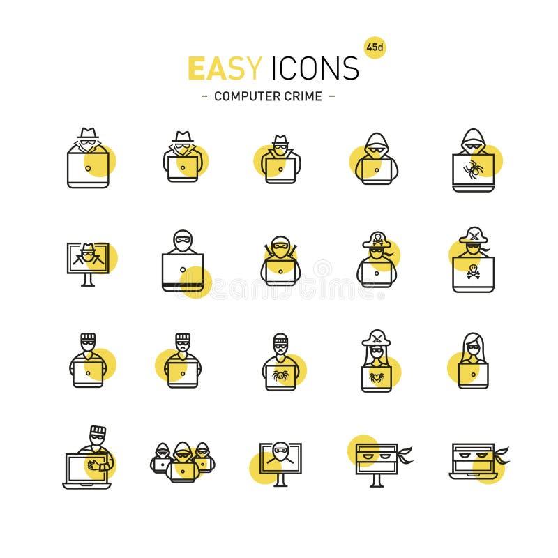 Lätt datorbrott för symboler 44d royaltyfri illustrationer