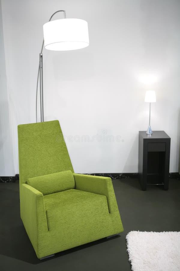 lätt green för stol arkivbild