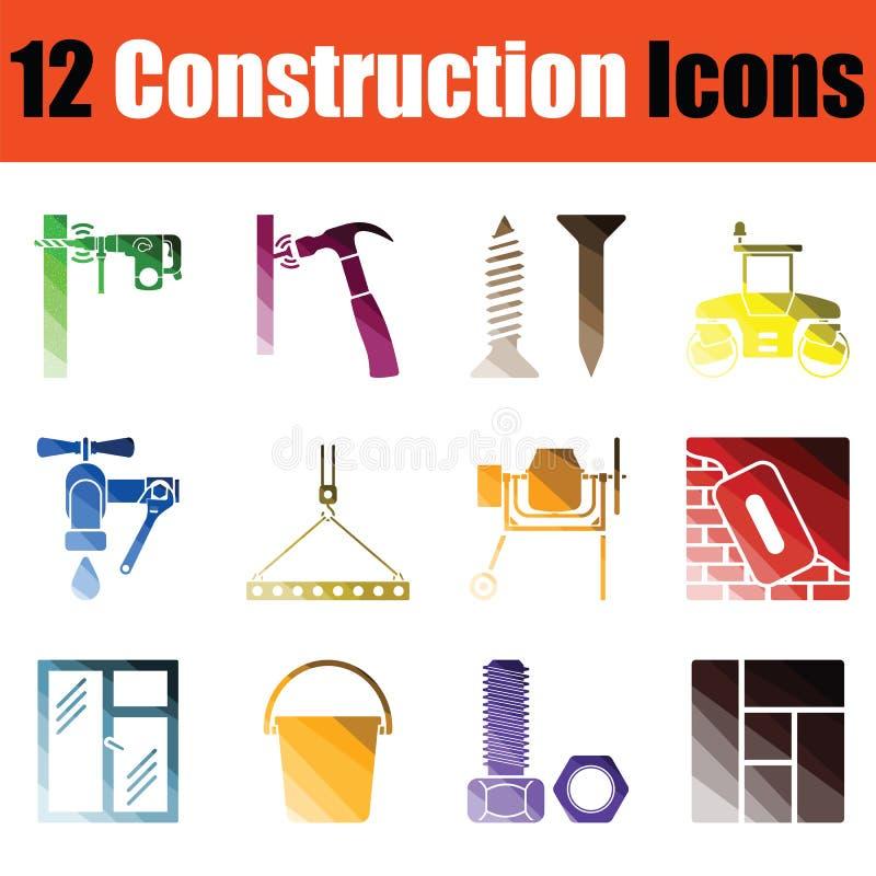 lätt konstruktion redigerar symbolsbildseten till vektorn royaltyfri illustrationer