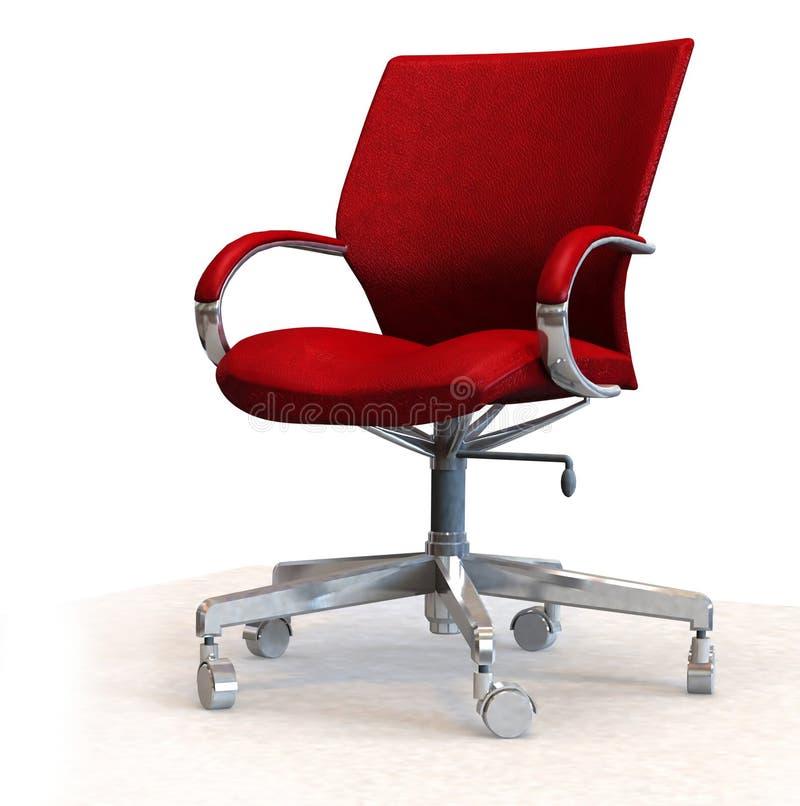 lätt läderkontor för stol stock illustrationer