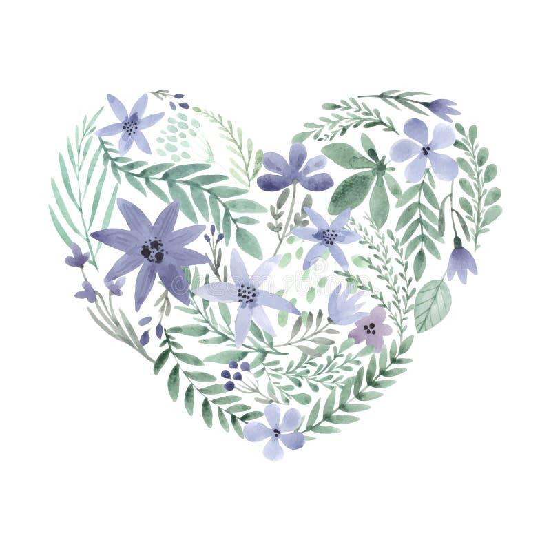 lätt redigera blommahjärta till royaltyfri illustrationer