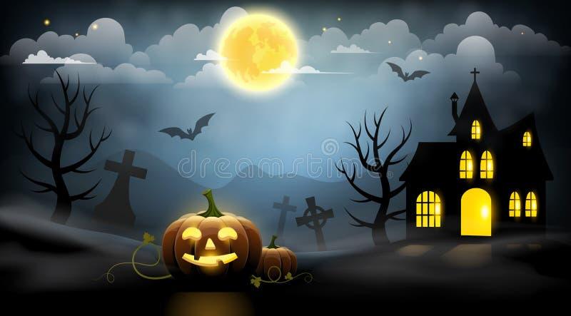 lätt redigera den halloween bildnatten till vektorn stock illustrationer