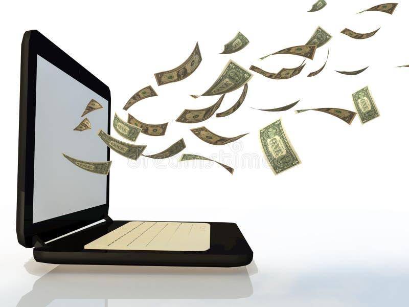 Lätta sätt att göra pengar från internet och din PC royaltyfri illustrationer