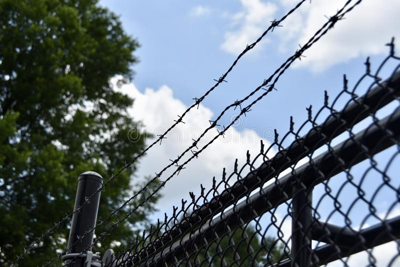 Lätthet för straffrättsligt systemkriminalvårdsanstaltfängelse royaltyfri bild